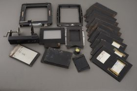 lot of various camera parts, for LF cameras mostly, including 10x film holder