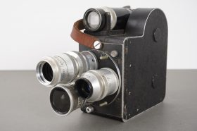 LD8 8mm film camera with 3x SOM Berthiot lenses, D-mount