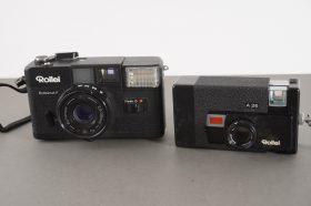 Rolleimat F + A26 – lot of 2x Rollei cameras