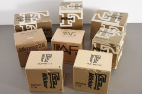A bunch of empty Nikon / Nikkor boxes