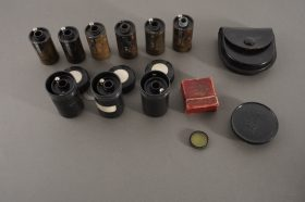 9x Leica Leitz reloadable film cassettes + filter + cap + case
