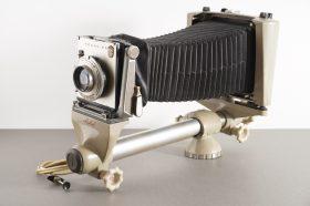 Linhof Technika monorail camera with 150mm 1:4.5 Xenar lens, 4×5