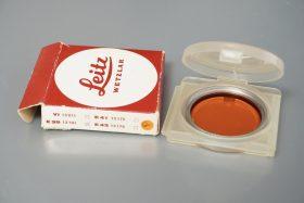 Leica Leitz filter Orange, E39 Boxed (box marked e43)