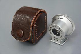 Leica Leitz finder for 9cm lenses, in leather case