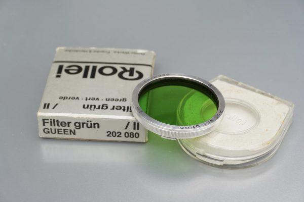 Rollei Rolleiflex filter, Bay II, Grun, Boxed