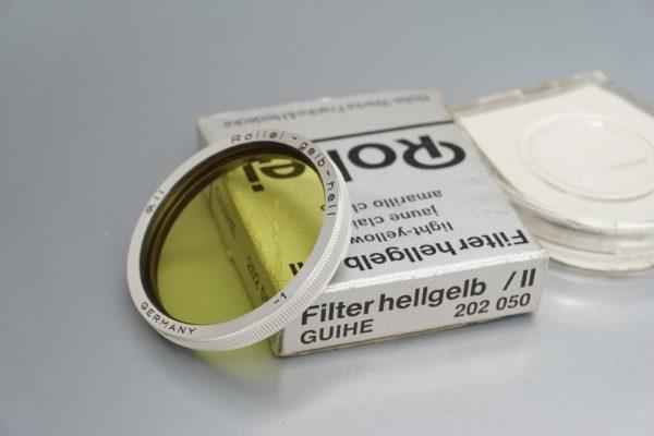 Rollei Rolleiflex filter, Bay II, Hellgelb, Boxed