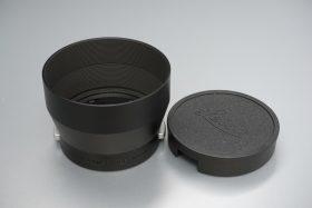 Leica Leitz 12575 lens hood, all black with late Leica cap