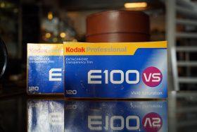 Kodak Ektachrome E100VS 120 / 5-pack transparancy film, Expired 2005