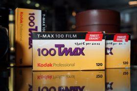 Kodak 100 Tmax 120 film, 5-pack, Expired 2011