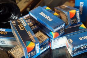 Konica Color film SR-G 160, 120 roll film, Expired 1996
