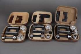 3x Rollei Rolleikin sets in leather cases, not complete