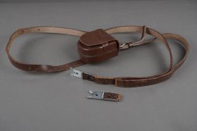 leather strap for Rolleiflex camera + pouch