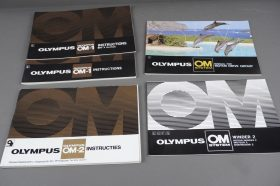 Olympus OM-1, motor drive group, winder (English) and OM-2 (Dutch) manuals,