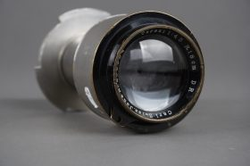 Vintage Tessar 18cm 1:4.5 lens in unknown mount for 35mm movie camera