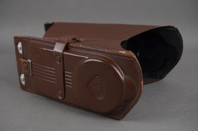 Rollei focussing hood with loupe / magnifier, leather