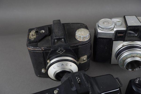 6x vintage cameras, Agfa, Kodak, Canon, Minolta
