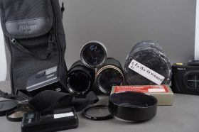 Nikon CL-35 and CL-M2 lens cases + extras