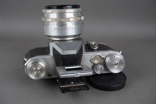 Pentacon FM camera + Carl Zeiss Jena Tessar 50mm 1:2.8 lens, M42 mount