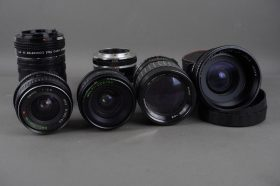 assorted lot of lenses, tubes and converters, OM mount mostly