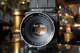 Mamiya RB67 pro S + Mamiya 3.8 / 127mm lens