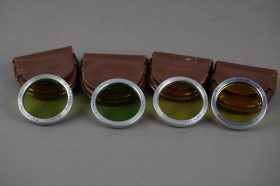 4x genuine Rollei bay 1 filters: 2x green, 2x yellow – cased