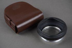 genuine Rollei Rolleiflex bayonet 1 folding rubber lens hood, cased